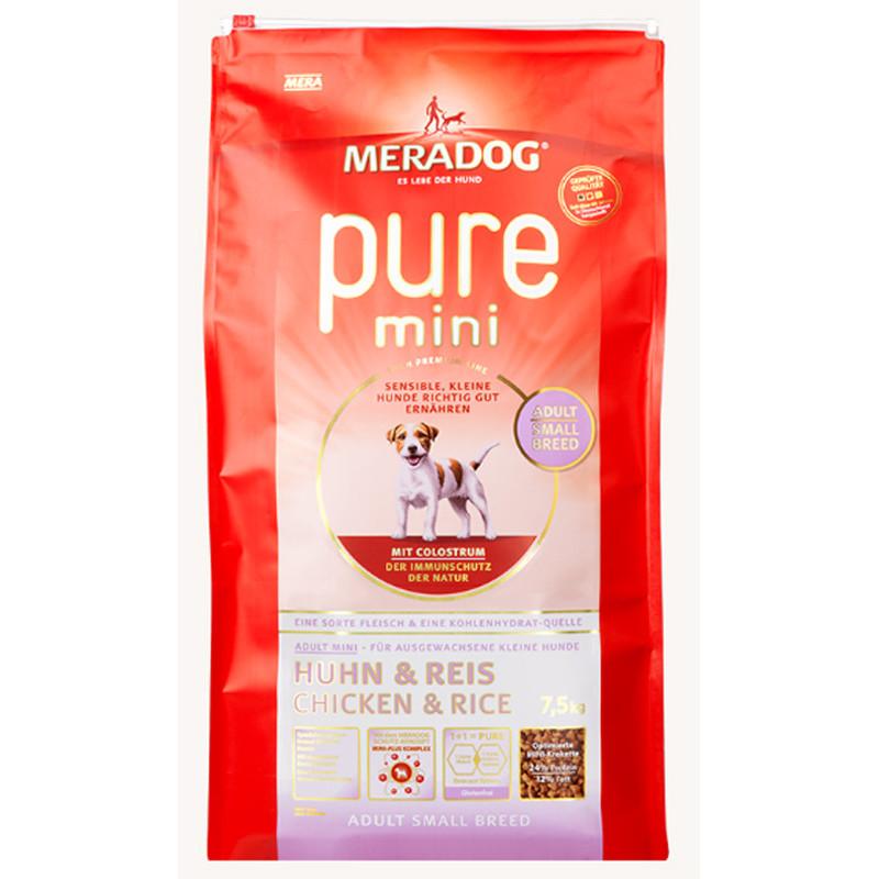Сухой корм Meradog Pure Mini Adult для взрослых собак-аллергиков мелких пород с курицей и рисом