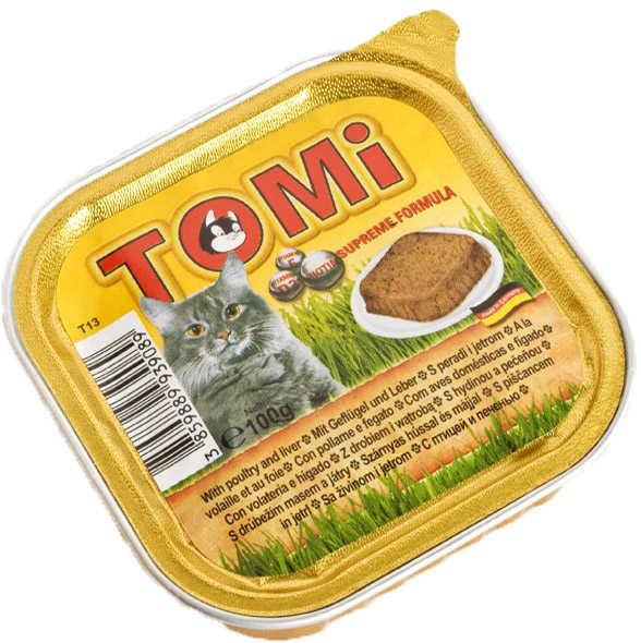 TOMi (Томи) poultry & liver - Паштет с птицей и печенью для кошек