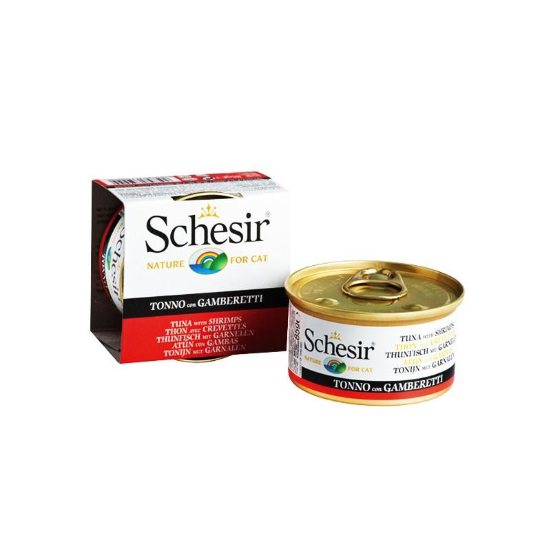 Schesir Tuna & Shrimps консерва для котов с тунцом и креветками