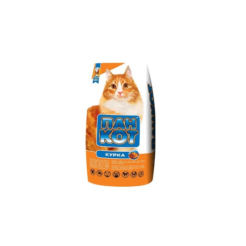 Пан Кот КУРИЦА - Сухой корм с курицей для взрослых кошек со вкусом курицы