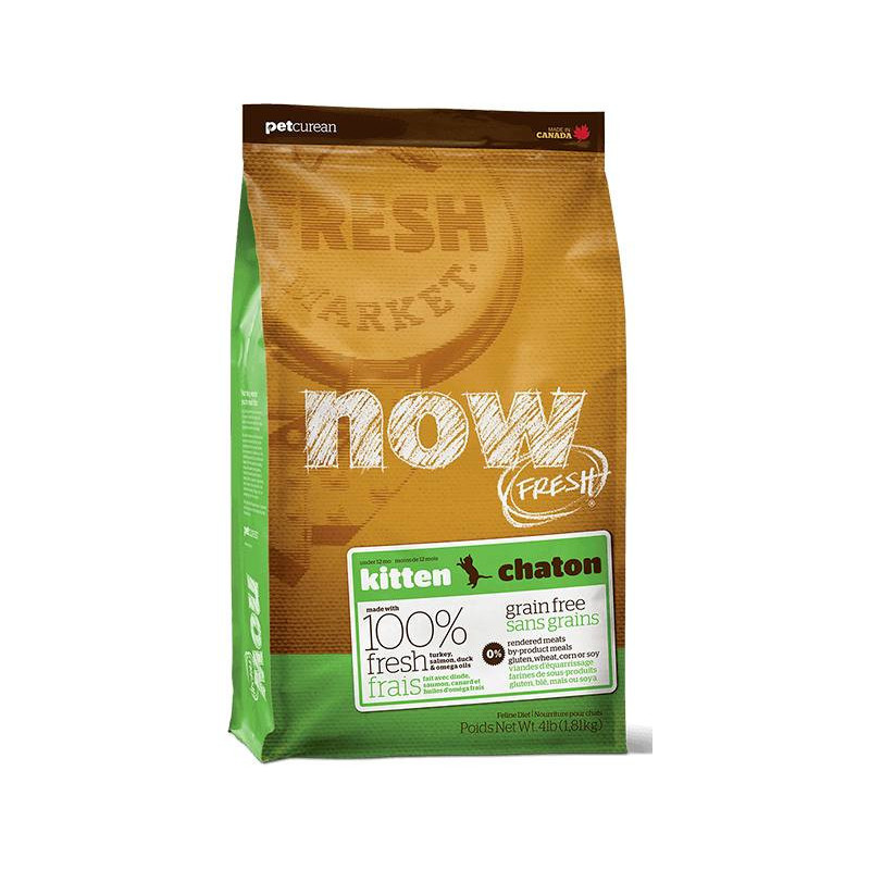 NOW FRESH™ (Нау Фреш) Grain Free Kitten Recipe - Сухой беззерновой корм с индейкой, уткой и лососем для котят