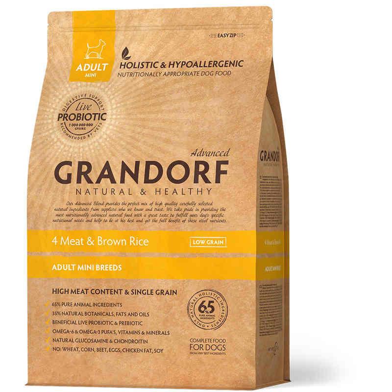 Grandorf (Грандорф) Holistic 4 Meat & Brown Rice Mini - для мини пород 4 МЯСА С БУРЫМ РИСОМ
