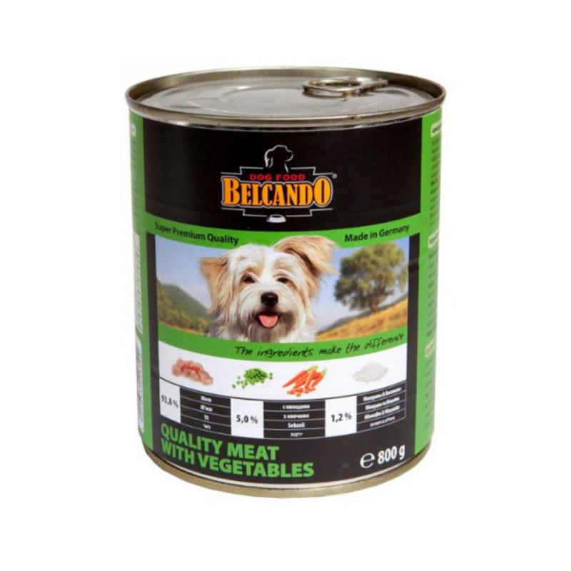 Belcando (Белькандо) - Консервированный суперпремиальный корм с отборным мясом и овощами для собак всех возрастов