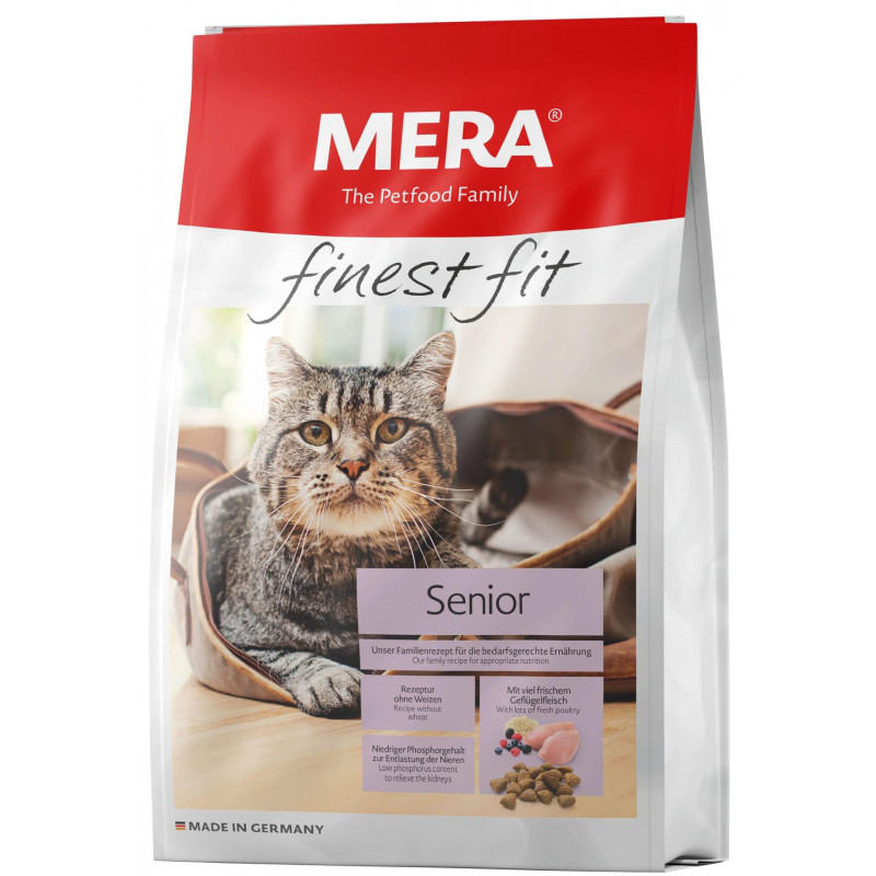 Mera (Мера) Finest fit Senior - Сухой корм с курицей для стареющих кошек