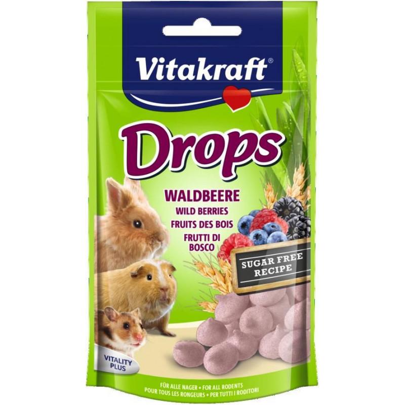 Лакомство-драже VITACRAFT DROPS для всех видов грызунов с лесными ягодами