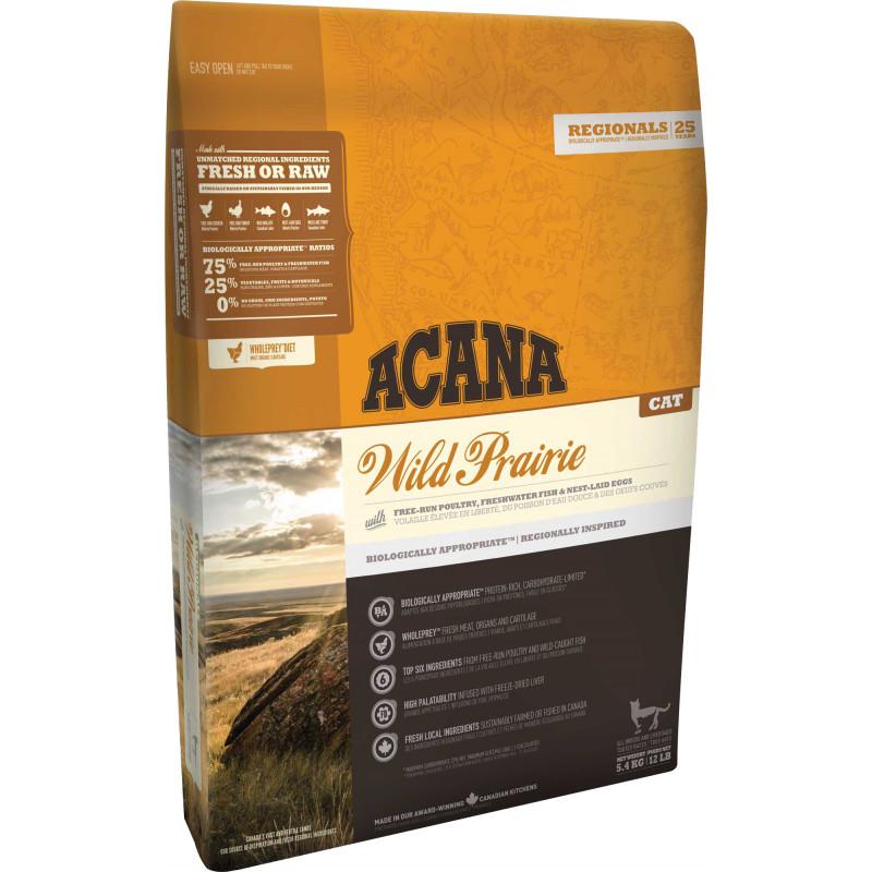 Acana (Акана) Wild Prairie Cat - Сухой корм с курицей и рыбой для котят и кошек