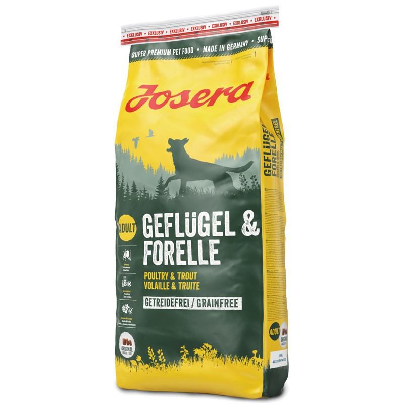 Josera (Йозера) Adult Geflügel & Forelle - Сухой беззерновой корм с птицей и форелью для взрослых собак
