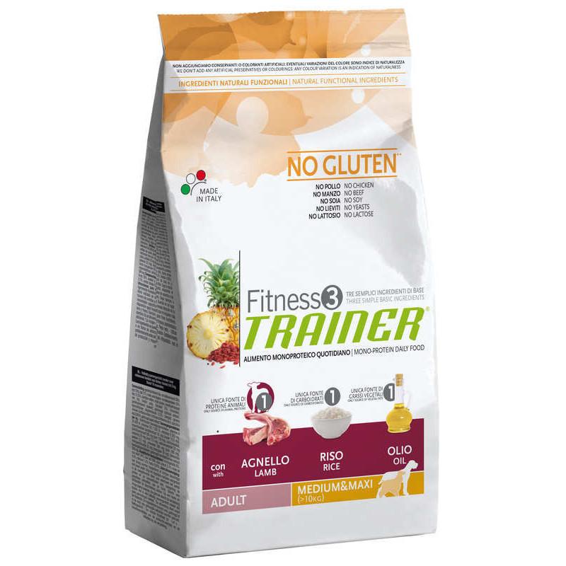 Trainer (Трейнер) Fitness 3 Adult Medium/Maxi  With Lamb  - Сухой корм для взрослых собак средних и крупных пород (ягненок)