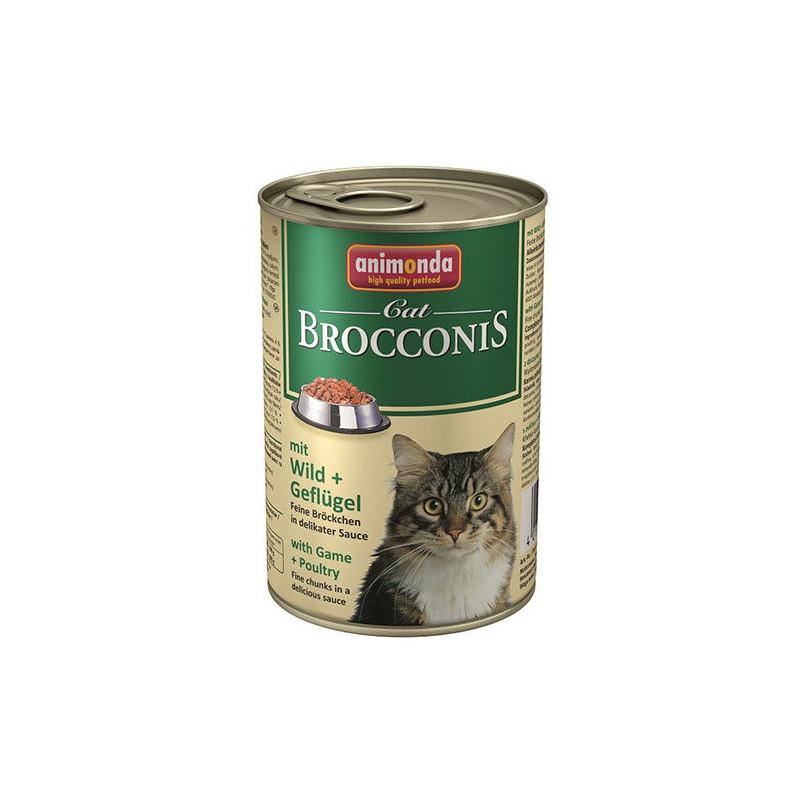 Animonda (Анимонда) Brocconis Cat - Консервированный корм с дичью и домашней птицей для взрослых кошек (кусочки в соусе)