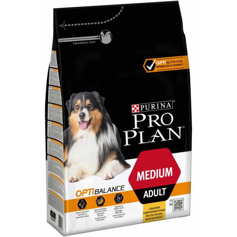 Purina Pro Plan (Пурина Про План) Adult Medium Chiken Cухой корм для взрослых собак средних пород с курицей