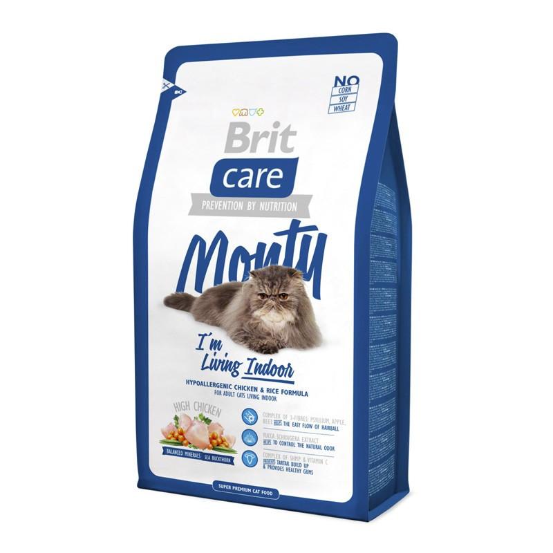 Brit Care (Брит Кеа) MONTY - Сухой корм с курицей и рисом для взрослых кошек не покидающих помещение