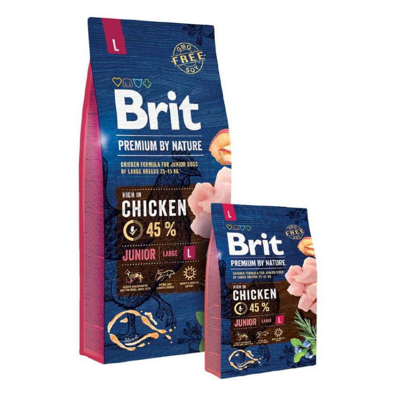 Корм Brit Premium by Nature (Брит Премиум) JUNIOR L для щенков и молодых собак крупных пород