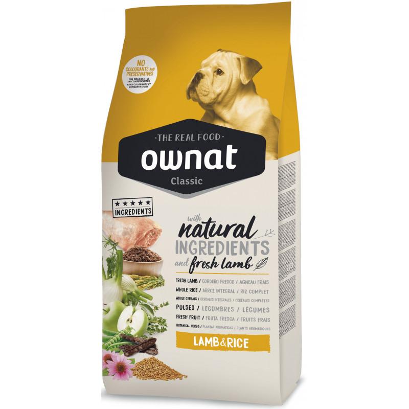 Ownat Classic Dog Adult Lamb & Rice - корм для собак, с ягненком и рисом