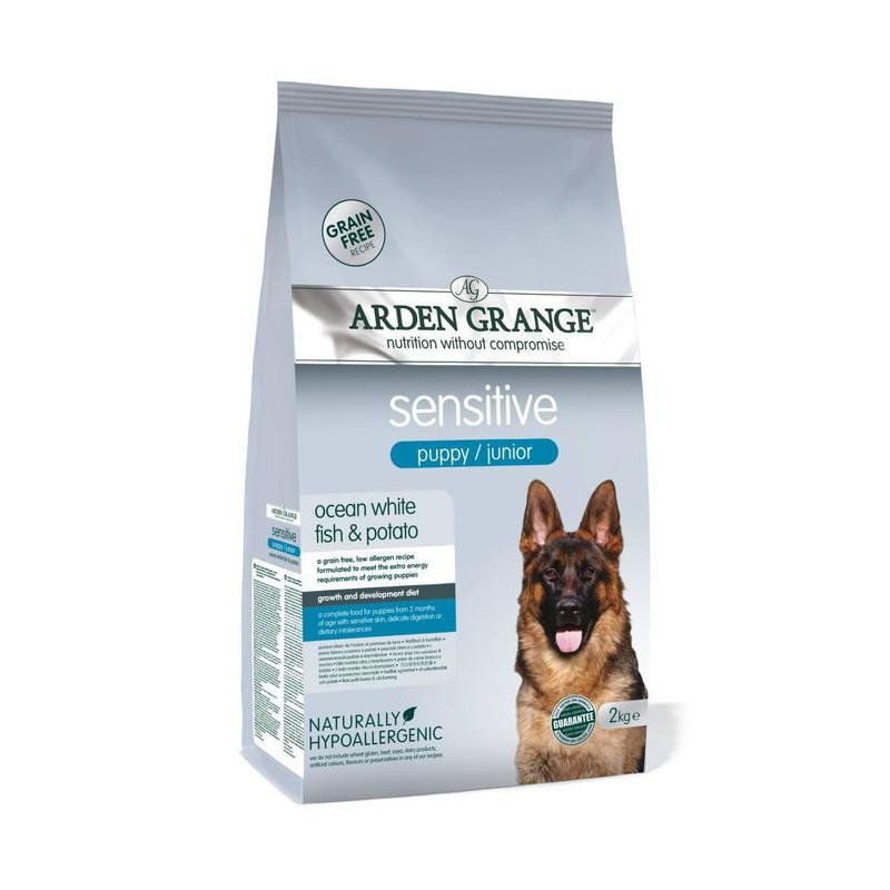 Arden Grange (Арден Грандж) Puppy/Junior Sensitive - Сухой корм с океанической белой рыбой и картофелем для щенков с чувствительным пищеварением