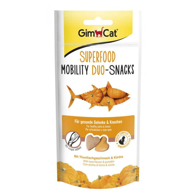 GimСat (ДжимКэт) SUPERFOOD Mobility Duo-snakcs - Лакомство для котов с тунцом и тыквой для здоровья суставов