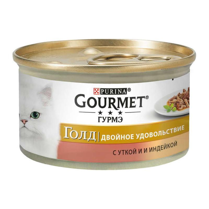 Gourmet Gold (Гурмэ Голд) - Консервированный корм с уткой и индейкой для взрослых кошек