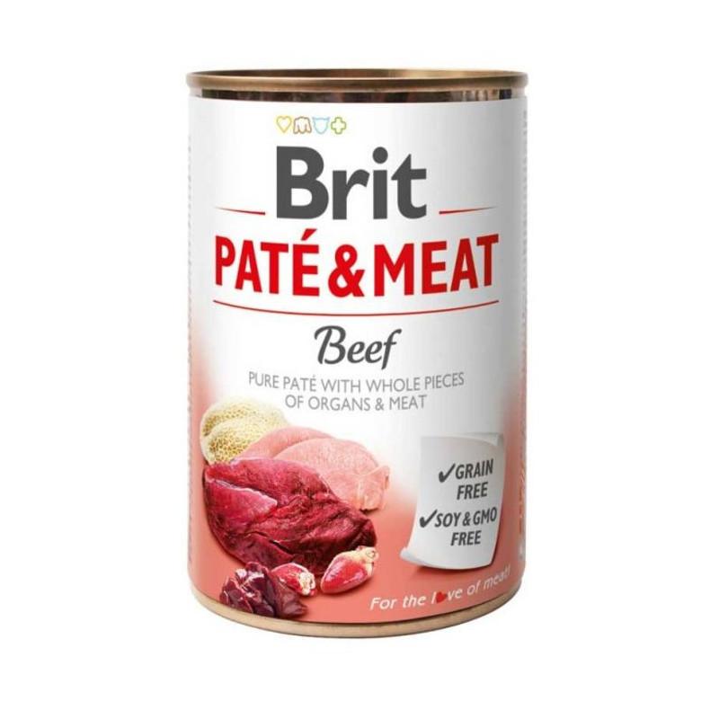 Brit (Брит) PATE & MEAT Beef - консервы для собак с говядиной