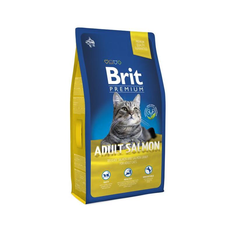 Brit Premium (Брит Премиум) ADULT Salmon - Сухой корм с лососем для взрослых кошек
