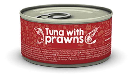 Naturea (Натурэ) Tuna & Prawns - Консервы с тунцом и креветкой для кошек