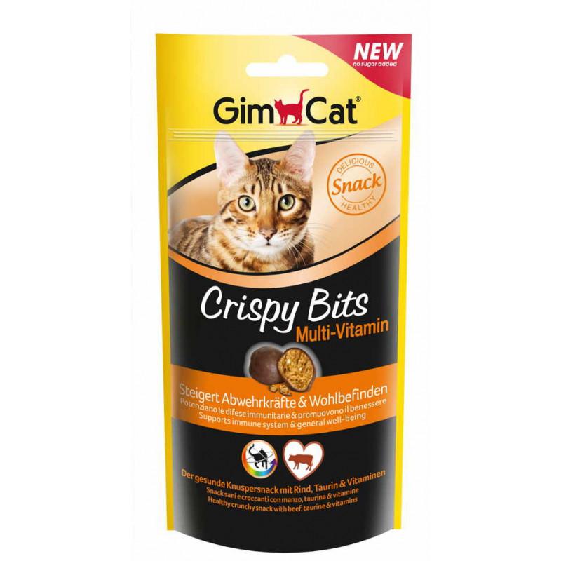 GimСat (ДжимКэт) Crispy Bits Multi-Vitamin. Лакомство Мультивитамин для котов