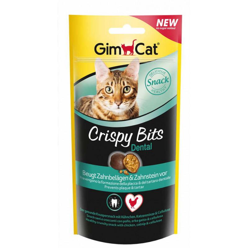 GimСat (ДжимКэт) Crispy Bits Dental. Лакомство для очистки зубов у котов