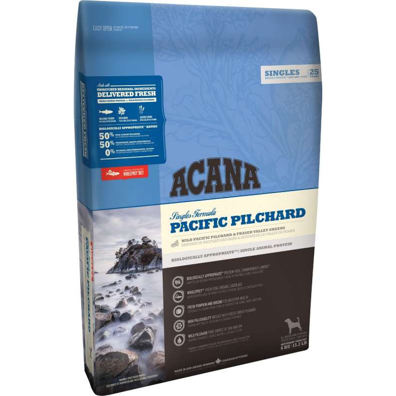 Сухой корм Acana (Акана) Pacific Pilchard для собак всех пород