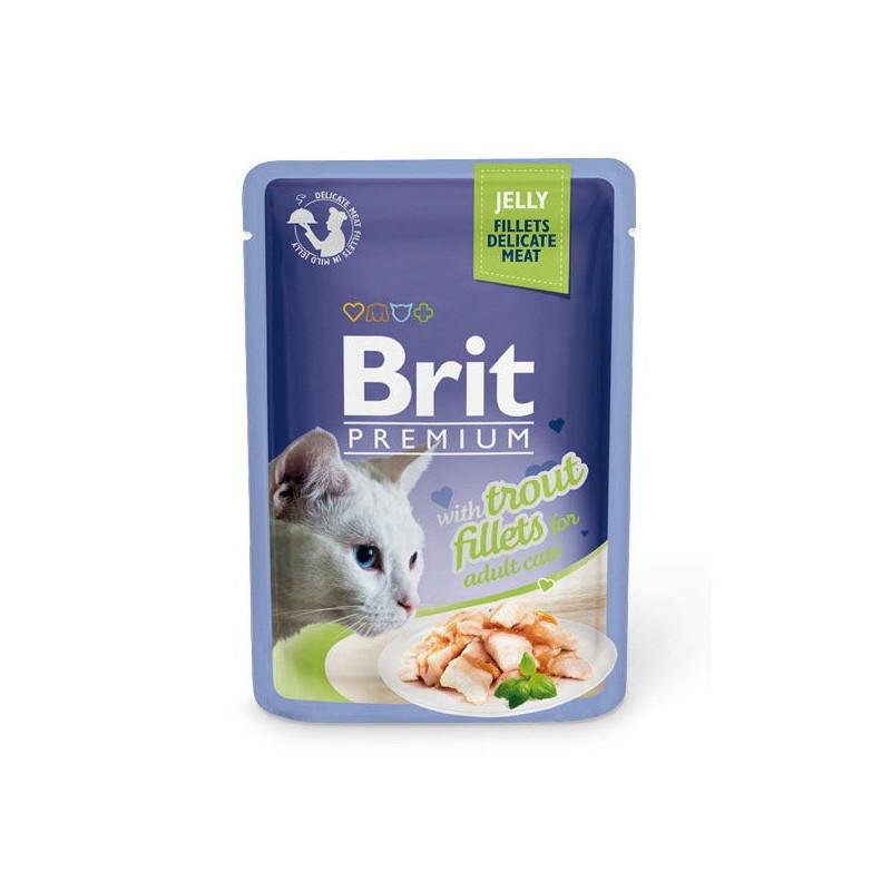 Brit Premium (Брит Премиум) Cat Trput fillets in Jelly - Влажный корм с кусочками из филе форели в желе для кошек