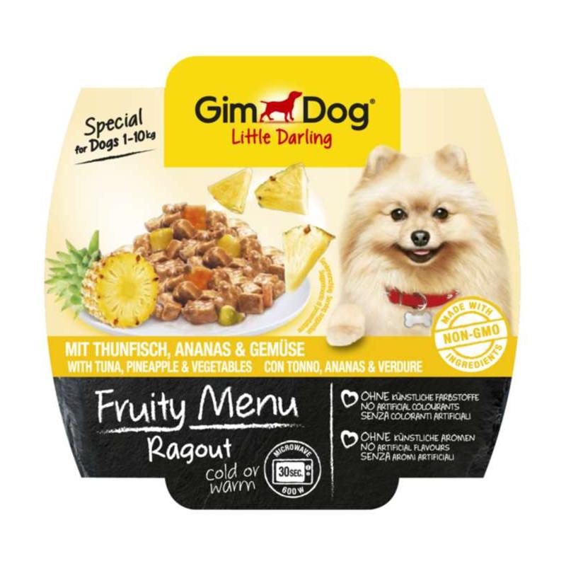 GimDog LITTLE DARLINGD Fruity Menu рагу с тунцом, ананасом и овощами для собак мелких пород