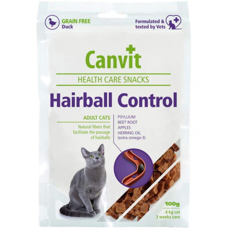 Canvit (Канвит) Hairball Control Snack - Полувлажное лакомство с уткой для выведения шерсти у котов