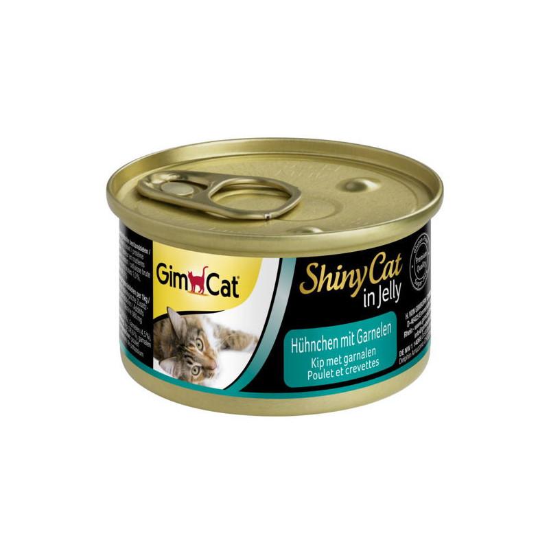 GimCat (ДжимКэт) ShinyCat - Консервированный корм с курицей и креветками для кошек