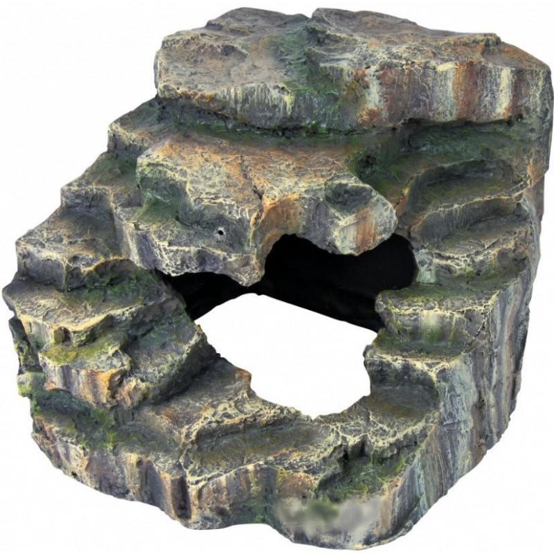 Trixie (Трикси) Decoration Corner Rock with Cave and Platform - Декорация скала с пещерой и платформой для террариума высотой 17 см