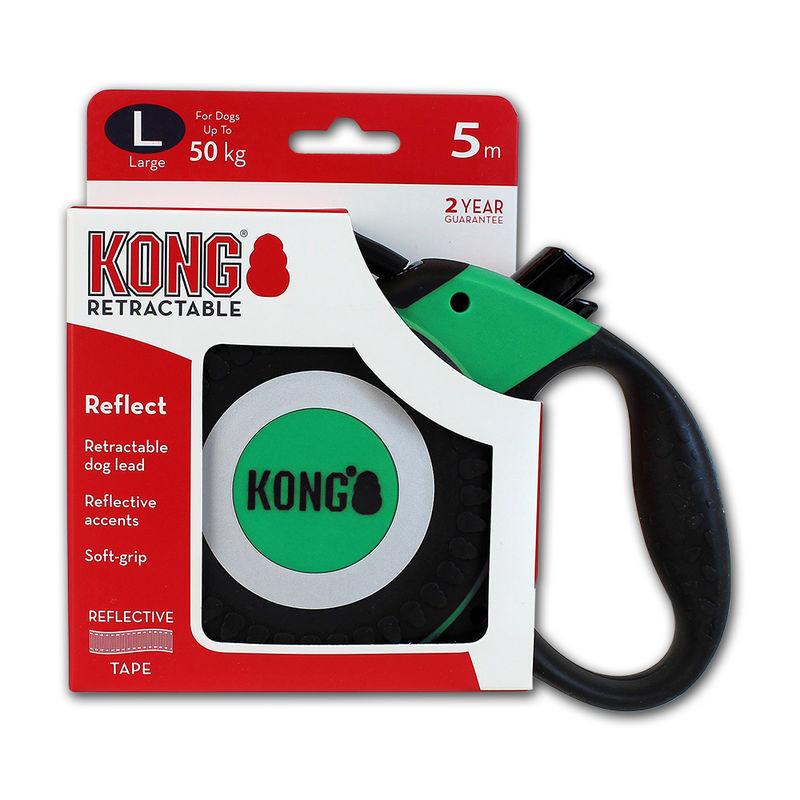 Поводок-рулетка KONG Reflect L для больших пород собак со светоотражателями