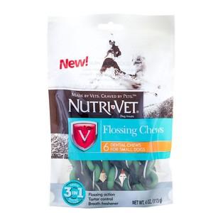 Лакомство Nutri-Vet Flossing Chews 3in1 Mini с зубной нитью для маленьких собак