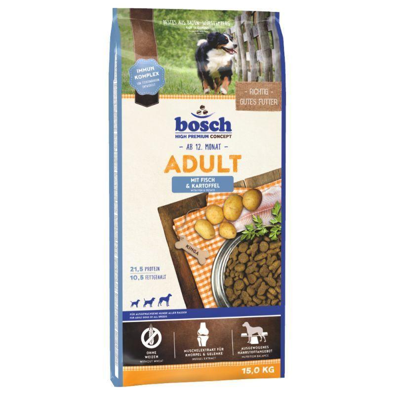 Bosch (Бош) Adult Fish and Potato - Сухой корм с рыбой и картофелем для взрослых собак