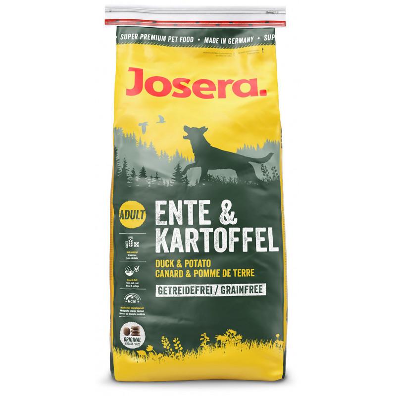 Josera (Йозера) Dog Adult Ente & Kartoffel Сухой беззерновой корм с уткой и картофелем для взрослых собак всех пород