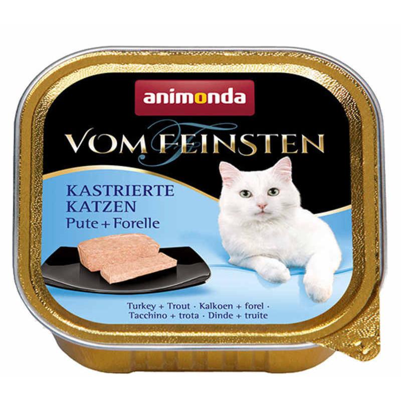Animonda (анимонда) Vom Feinsten for castrated Сats - Консервированный корм в виде паштета с индейкой и форелью для стерелизованных кошек