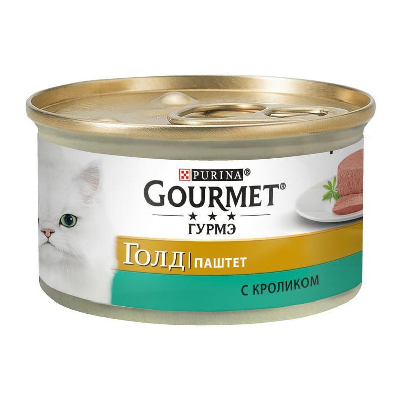 Gourmet Gold (Гурмэ Голд) - Консервированный корм паштет с кроликом для взрослых кошек