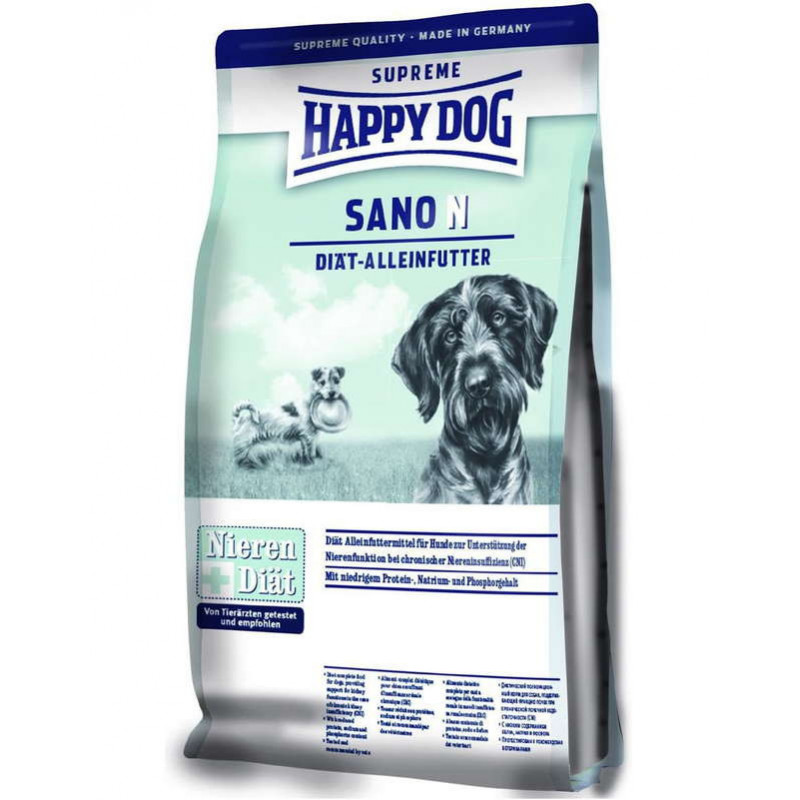 Happy Dog (Хеппи Дог) Supreme Sano N - Сухой диетический корм для собак с проблемами почек, сердца и печени