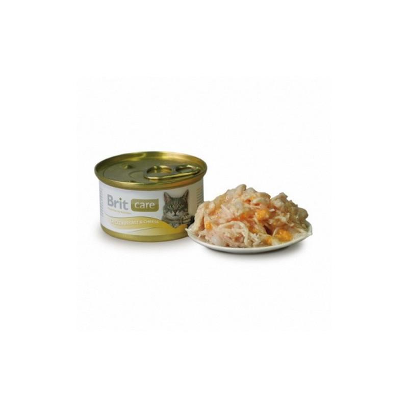 Brit Care (Брит Кеа). Консервы с куриной грудкой и сыром в соусе для кошек