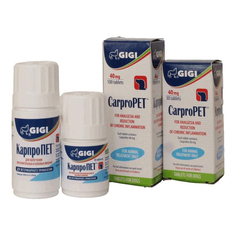 CarproPET (КарпроПЕТ) GIGI - нестероидный противовоспалительный для собак (карпрофен)