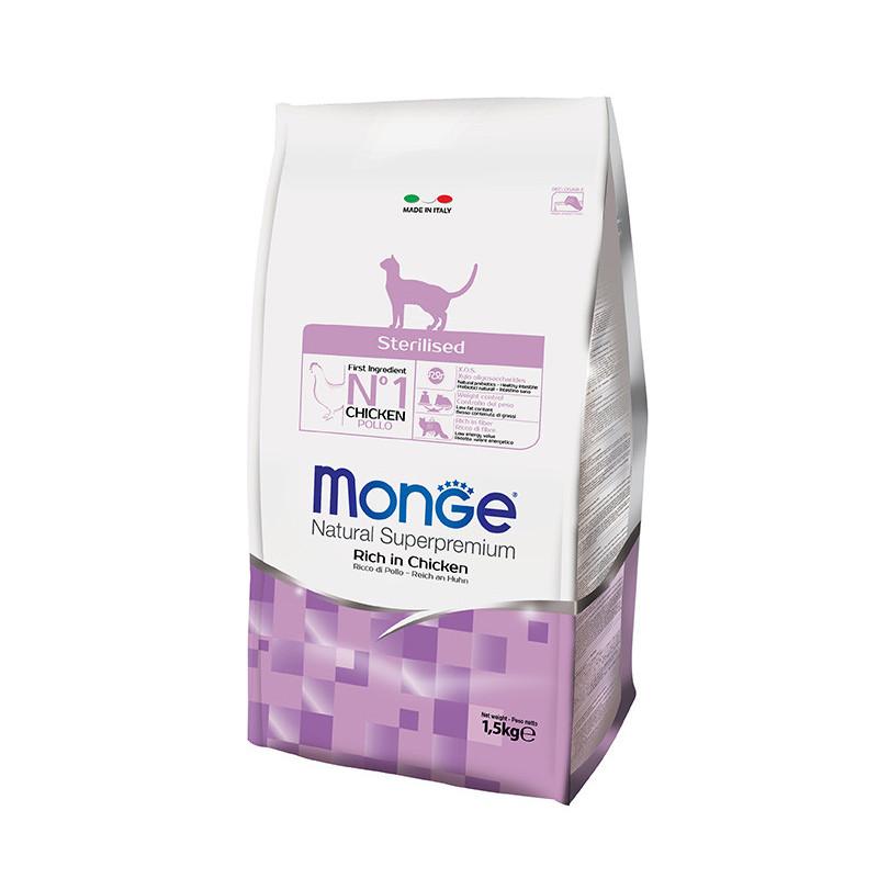Monge (Монж) Sterilised Rich in Chicken - Сухой корм с курицей для взрослых стеризованных кошек