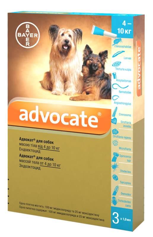Advocate (Адвокат) by Bayer Animal - Противопаразитарные капли для собак от блох, вшей, клещей, гельминтов (1 пипетка) - Фото 5