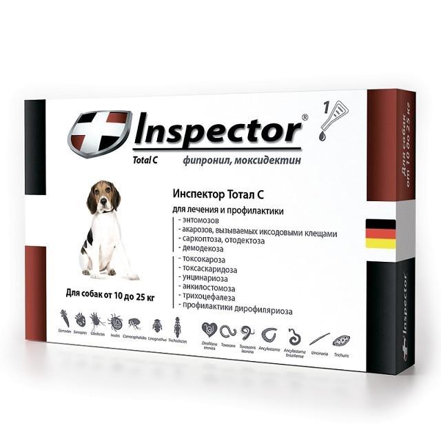 Inspector (Инспектор) Total C - Противопаразитарные капли на холку для собак от блох, клещей и гельминтов (1 пипетка) - Фото 6