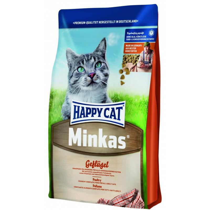 Happy Cat Minkas Geflugel - сухой корм для взрослых кошек с птицей