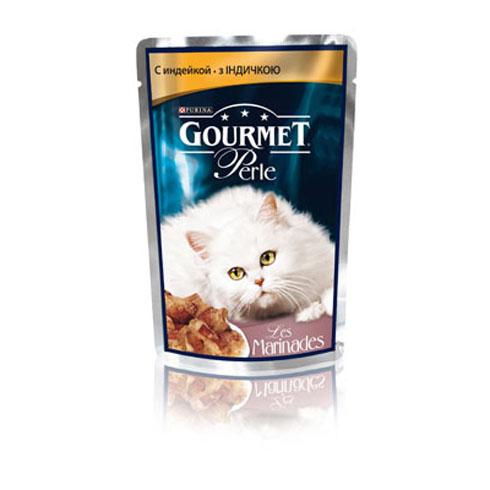 Gourmet PERLE (Гурмет Перл) - Пауч с филе индейки в маринаде для кошек
