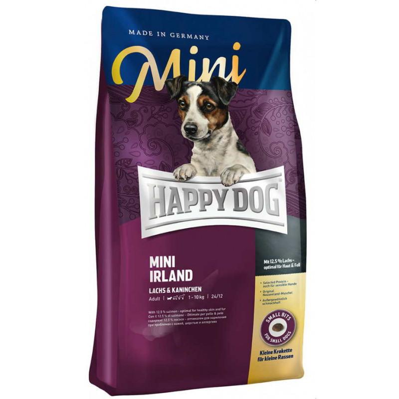 Happy Dog (Хеппи Дог) Mini Irland - Сухой корм с кроликом и лососем для собак мелких пород