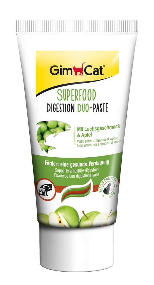 GimCat SUPERFOOD Digestion Duo-Paste Дуо-паста для пищеварения с лососем и яблоками