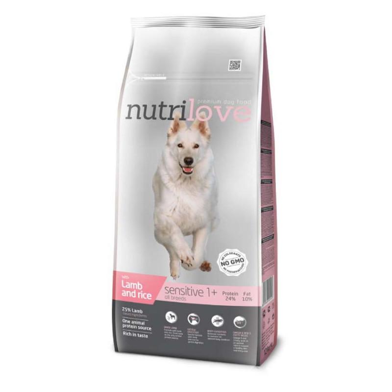 Nutrilove (Нутрилав ) Sensitive - Корм для взрослых собак с чувствительным пищеварением, с ягненком и рисом