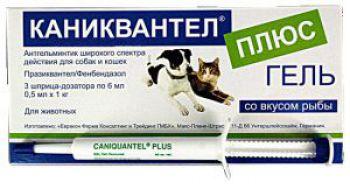 Caniquantel Plus Gel (Каниквантель Плюс Гель) антигельминтный гель для собак