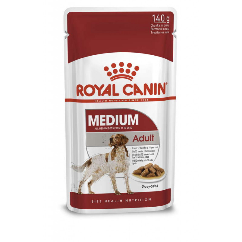 Royal Canin (Роял Канин) Medium Adult - Влажный корм для взрослых собак средних пород (кусочки в соусе)